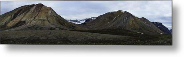 Arctic Mountain Landscape Metal Print