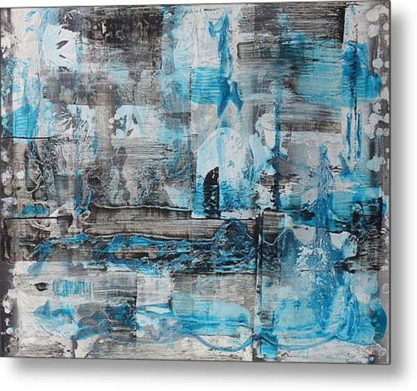 Metal Print featuring the painting Arctic by 'REA' Gallery