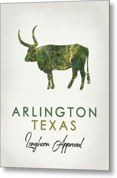 Arlington Texas Dark Marble Metal Print