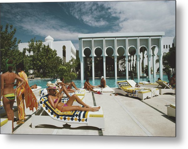 Armandos Beach Club Metal Print