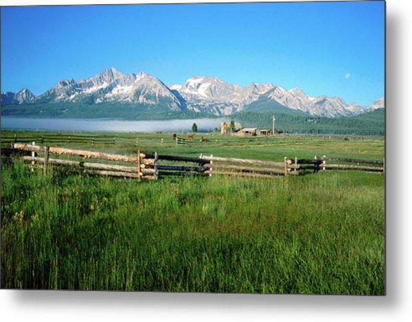 Arrow A Ranch And Sawtooth Mountains Metal Print