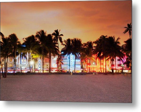 Art Deco District Miami South Beach Metal Print