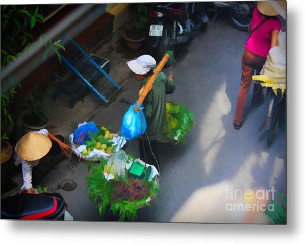 Art Streets Of Hanoi 3 Of 4 Metal Print