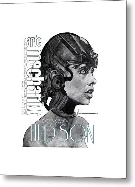 arteMECHANIX 1905 HUDSON GRUNGE Metal Print