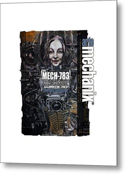 arteMECHANIX 1917 BioMECH-783 GRUNGE Metal Print
