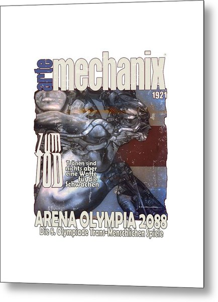 arteMECHANIX 1921 ARENA  GRUNGE Metal Print