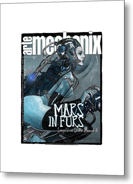 arteMECHANIX 1926 MARS IN FURS GRUNGE Metal Print