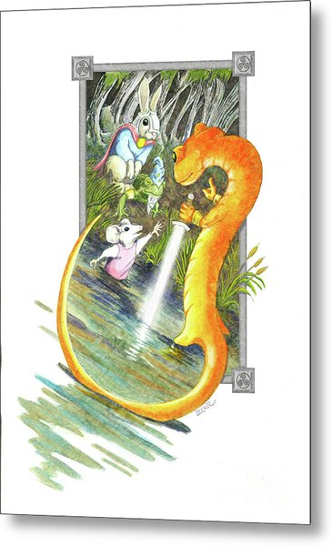 Arthur Mouse Receives Excalibur Metal Print