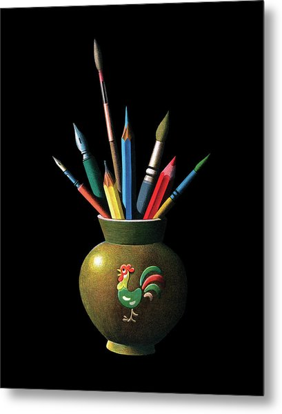 Artists Tools Metal Print by Graphicaartis