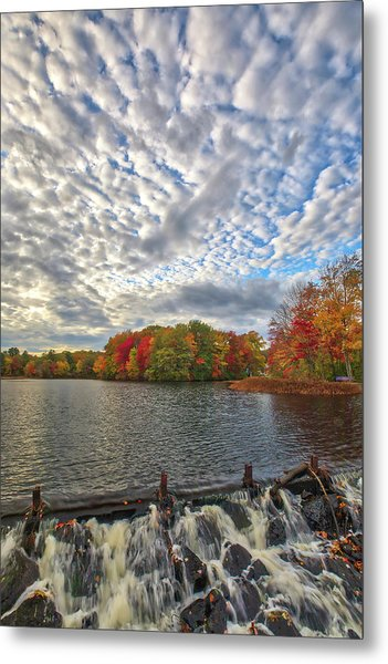 Metal Print featuring the photograph Ashland Mill Pond Dam by Juergen Roth