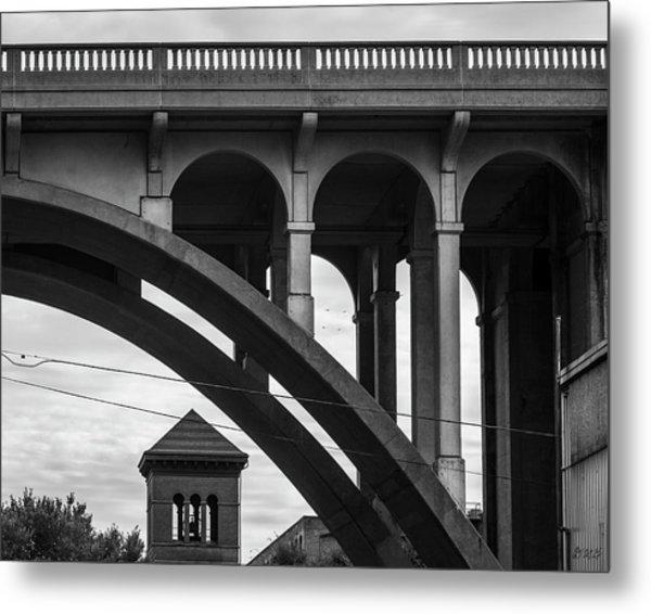 Metal Print featuring the photograph Ashton Viaduct I Bw by David Gordon