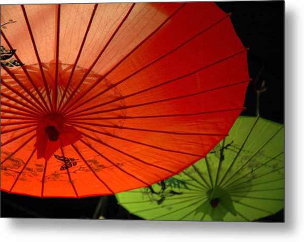 Asian Parasols Metal Print by Imagesbytrista