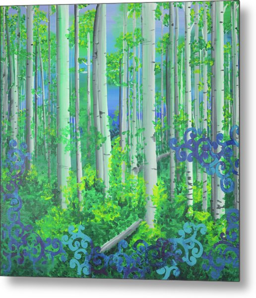 Aspens In July Metal Print