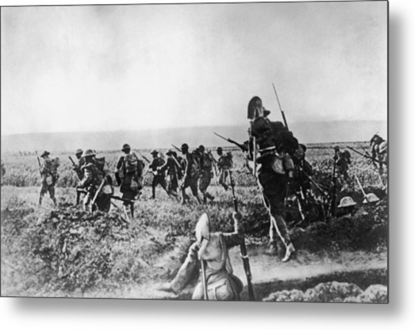 Assault On Cantigny Metal Print by Hulton Archive
