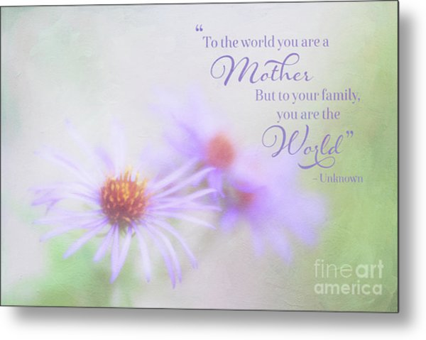 Asters For Mother's Day Metal Print