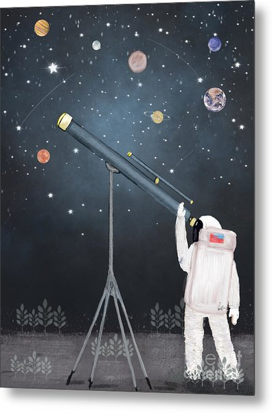 Astronaut Astrology  Metal Print