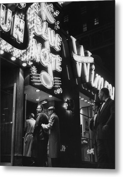 At The Blue Note Cafe Metal Print