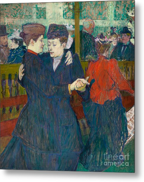At The Moulin Rouge Two Women Walzing, 1892 Metal Print