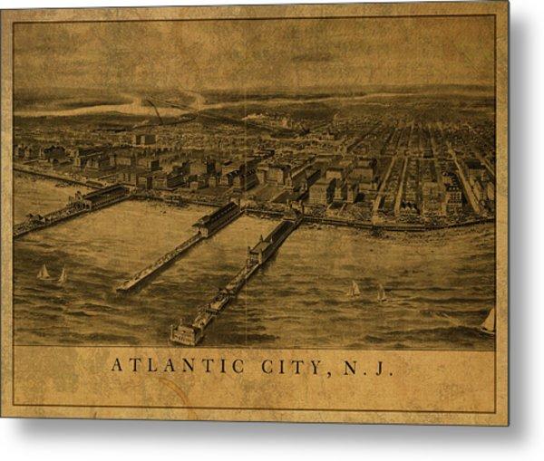 Atlantic City New Jersey Vintage City Street Map 1905 Metal Print