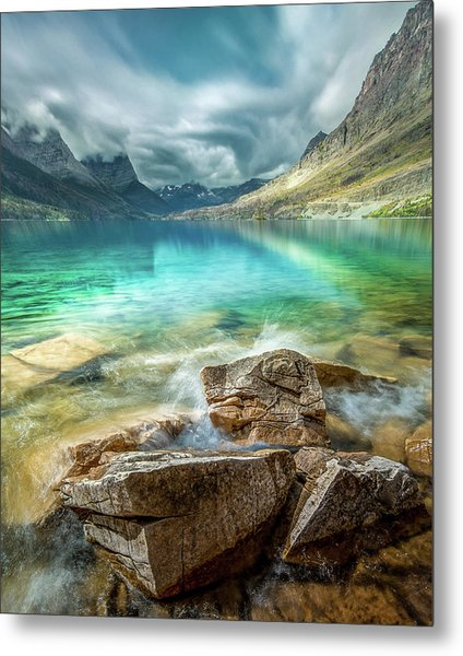 Metal Print featuring the photograph Atmospheric / St. Mary Lake, Glacier National Park  by Nicholas Parker