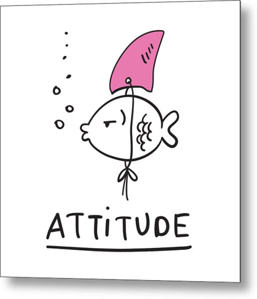 Attitude - Baby Room Nursery Art Poster Print Metal Print