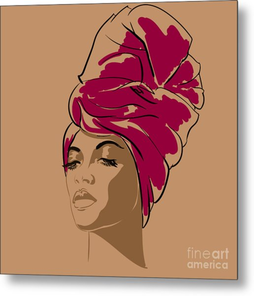 Attractive Young African-american Metal Print
