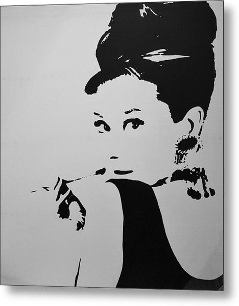 Metal Print featuring the photograph Audrey B W by Rob Hans