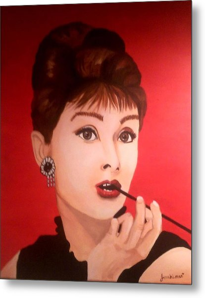 Metal Print featuring the painting Audrey  by Jennah Lenae
