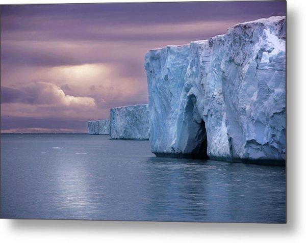 Austfonna Ice Cap Metal Print by Chase Dekker Wild-life Images