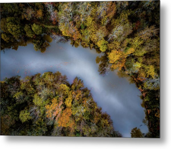 Autumn Arrives At The River Metal Print