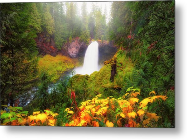 Autumn At Sahalie Falls Metal Print