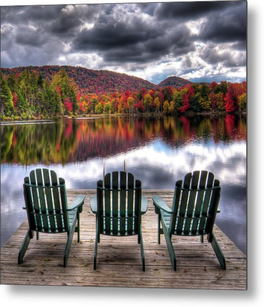 Metal Print featuring the photograph Autumn At The Lake by David Patterson