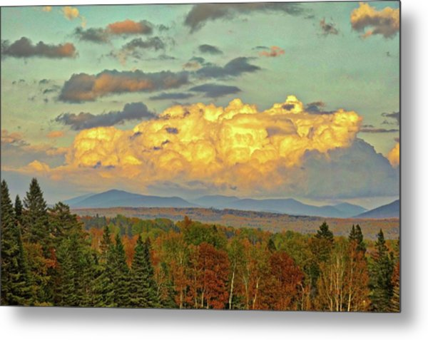 Autumn Clouds Over Maine Metal Print