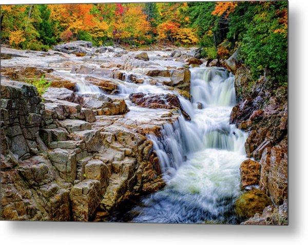 Autumn Color At Rocky Gorge Metal Print