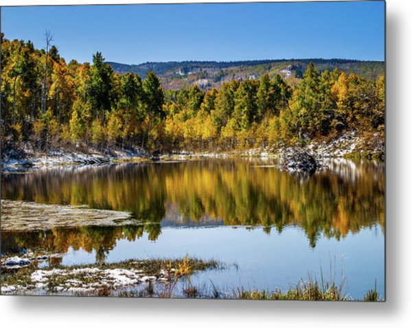 Metal Print featuring the photograph Autumn Cove At Ivie Pond by TL Mair