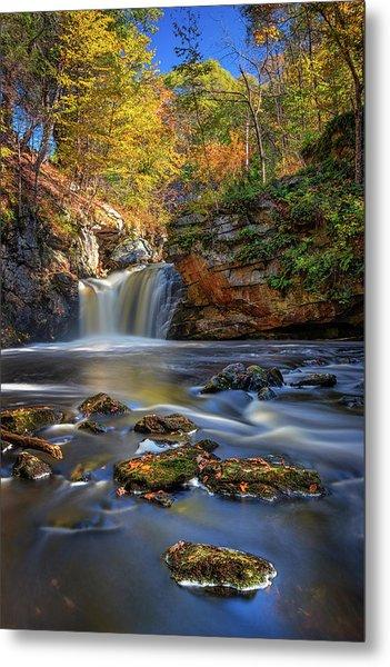 Autumn Day At Doane's Falls Metal Print
