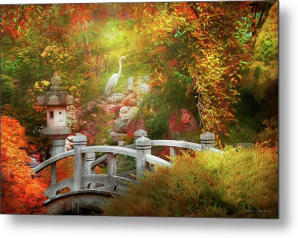 Metal Print featuring the photograph Autumn - Finding Inner Peace by Mike Savad