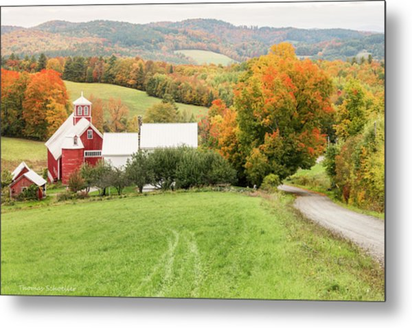 Metal Print featuring the photograph Autumn From The Bogie Mountain Farm - Vermont by Expressive Landscapes Fine Art Photography by Thom
