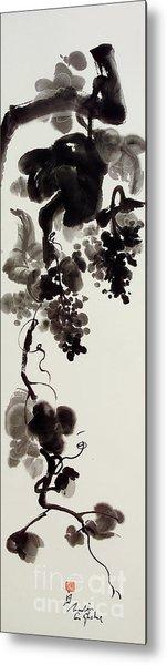 Autumn Grape Vine Painting Metal Print by Nadja Van Ghelue