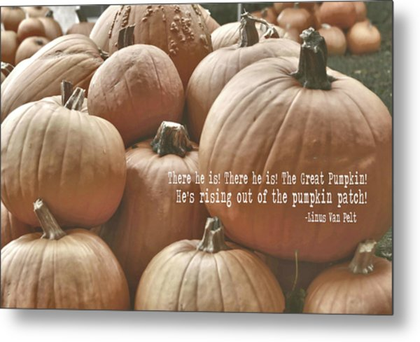 Autumn Harvest Quote Metal Print by JAMART Photography