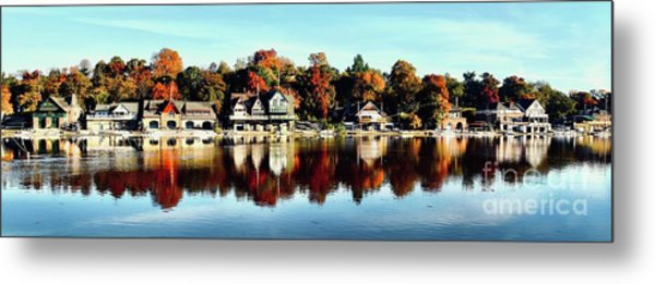 Autumn Houses Metal Print by Stacey Granger