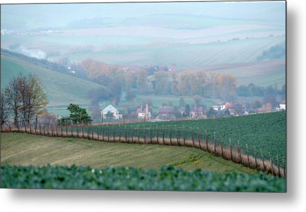 Metal Print featuring the photograph Autumn In Moravia 6 by Dubi Roman
