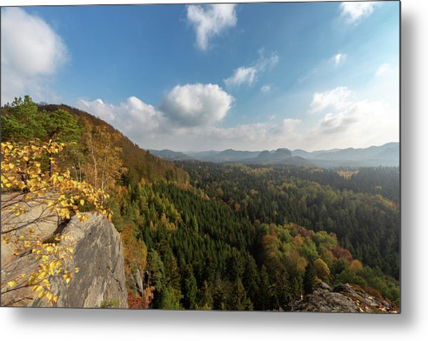 Metal Print featuring the photograph Autumn In The Elbe Sandstone Mountains by Andreas Levi