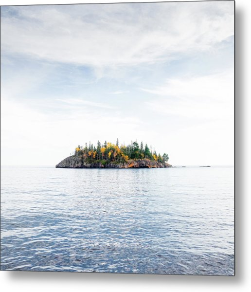 Autumn In The Lake Metal Print