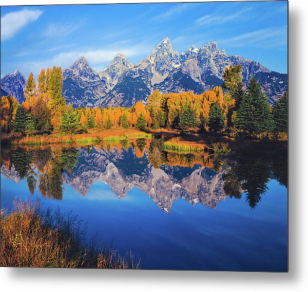 Autumn In The Snake River Valley Grand Metal Print by Ron thomas
