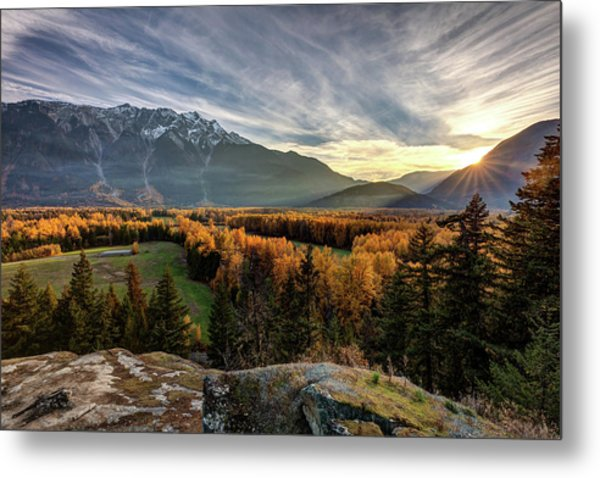 Metal Print featuring the photograph Autumn In The Valley Of Pemberton by Pierre Leclerc Photography