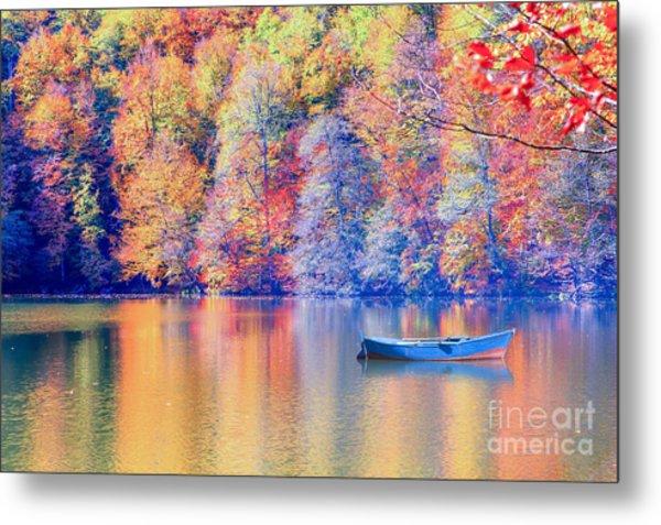 Autumn Landscape In Seven Lakes Metal Print