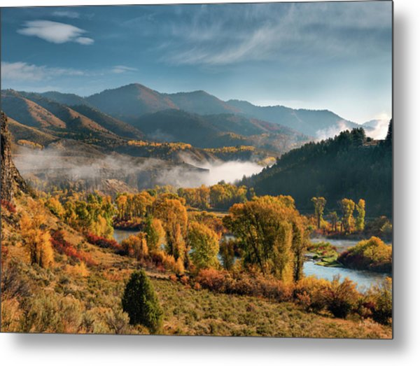 Autumn Light Along The Snake River Metal Print