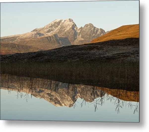 Metal Print featuring the photograph Autumn Meets Winter At Blaven by Stephen Taylor