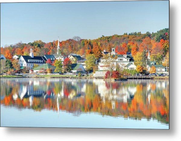 Autumn On Lake Winnipesaukee Metal Print by Denistangneyjr